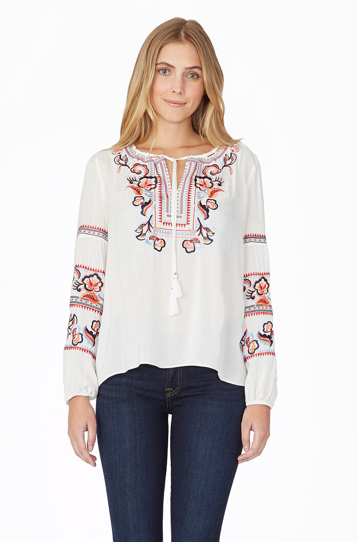 Persimmon Blouse - Ivory