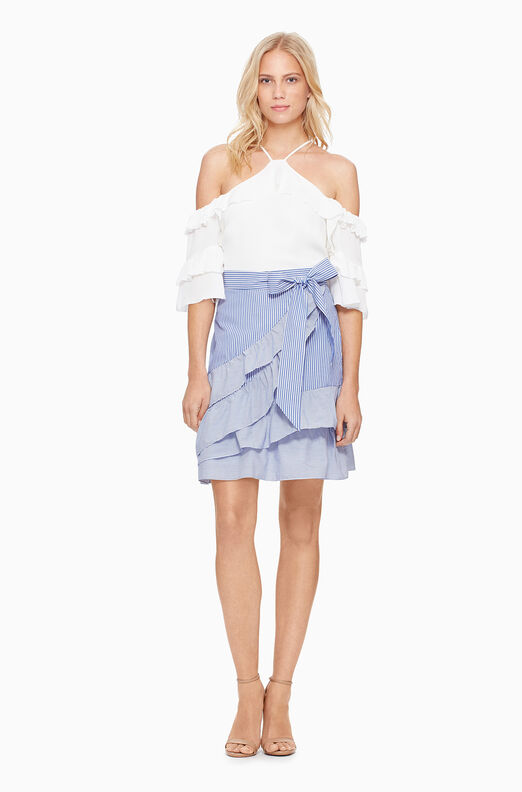 Lambert Skirt - Blue/White