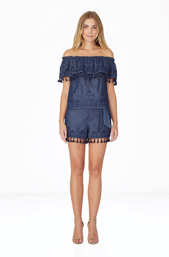 Bow Short - Chambray