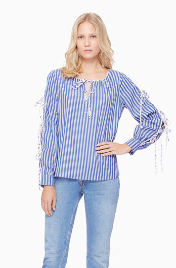 Lavinia Combo Blouse - Multi Stripe