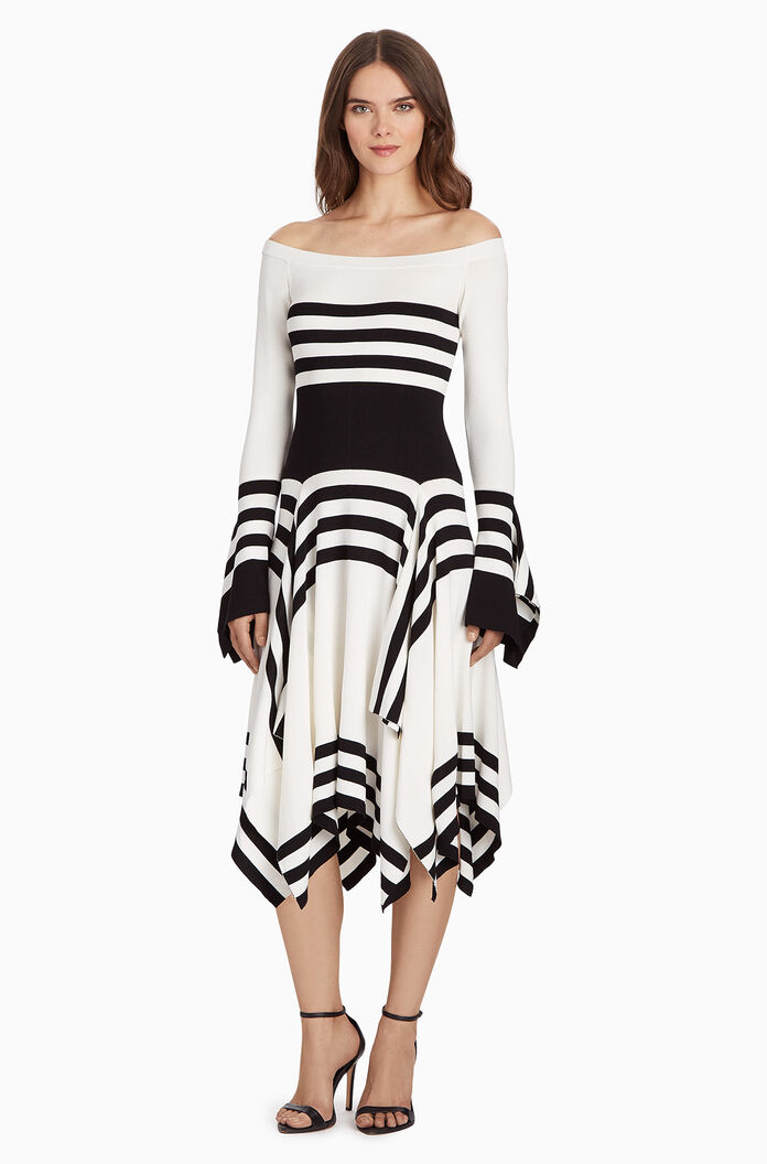 Lance Knit Dress - Ivory/Black