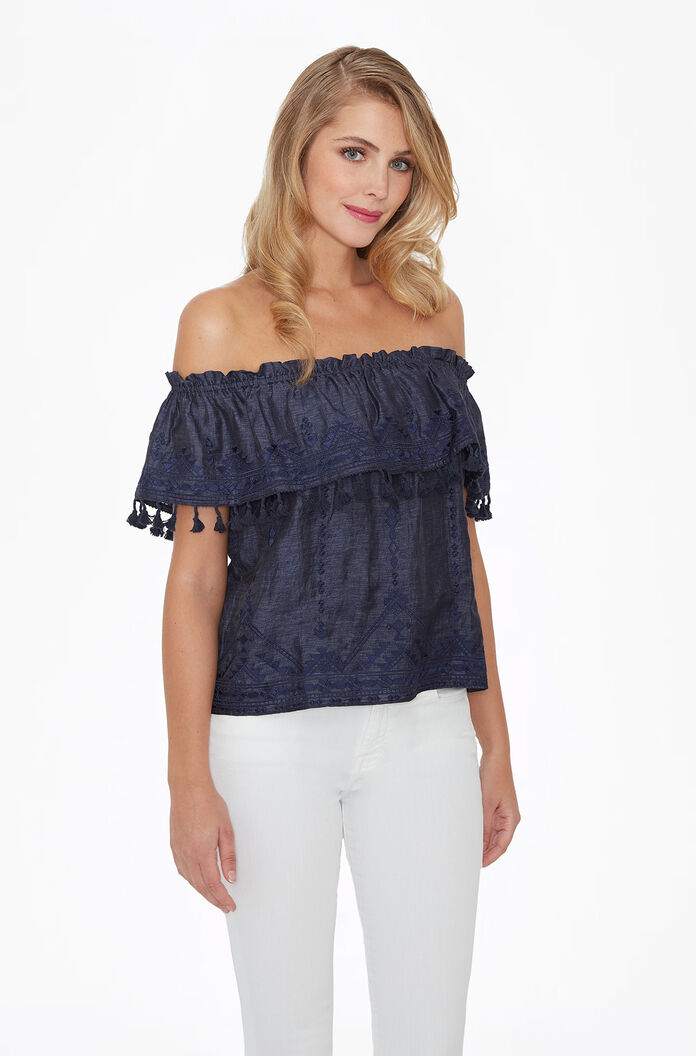 Trinidad Top - Chambray