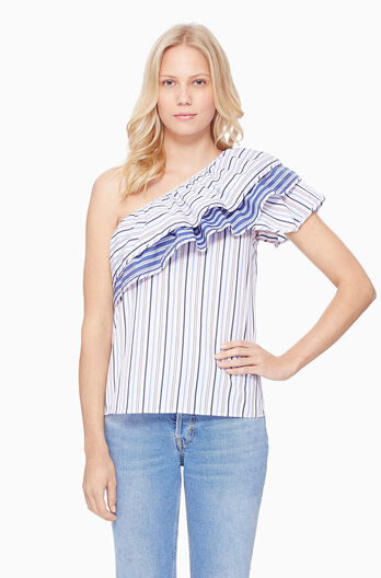 Mary Top - Multi Stripe