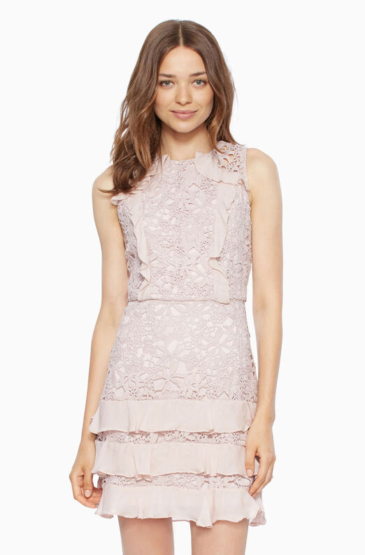 Zahara Combo Dress - Dusty Blush