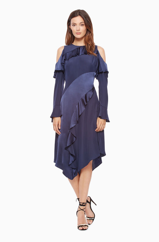 Nadeen Combo Dress - Adriatic