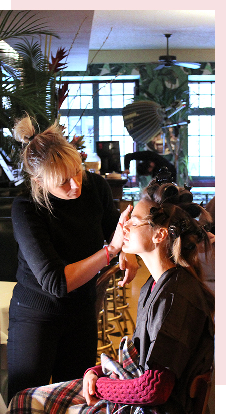 Campbell works her magic on our model Zo