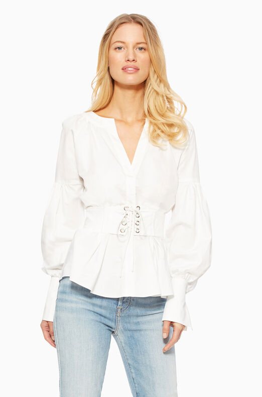 Elena Blouse - White