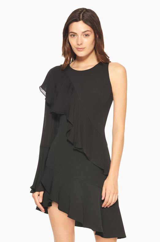 Neo Combo Dress - Black