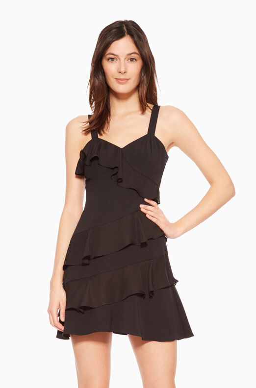 Jocelyn Combo Dress - Black