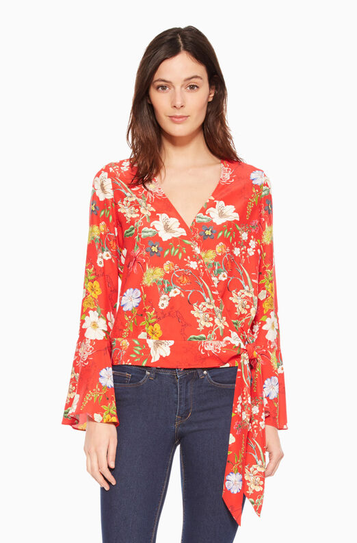 Isabella Blouse - Red Sangria