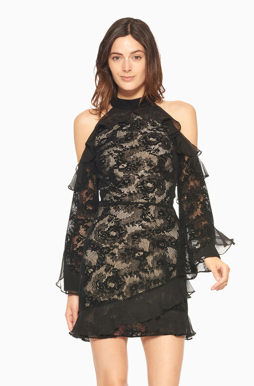 Skyler Combo Dress - Black