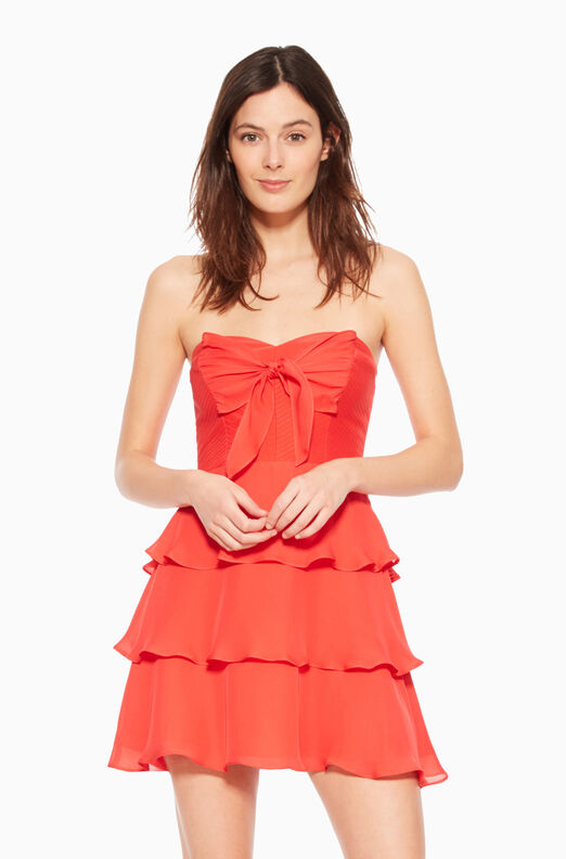 Lanelle Combo Dress - Strawberry