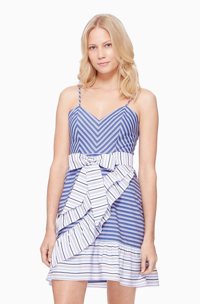 Brooklyn Dress - Multi Stripe