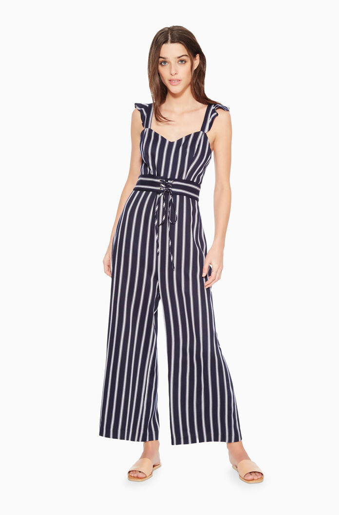48bca9a02 Images. P8A5152YDV-Multi Stripe; Myers Striped Jumpsuit ...