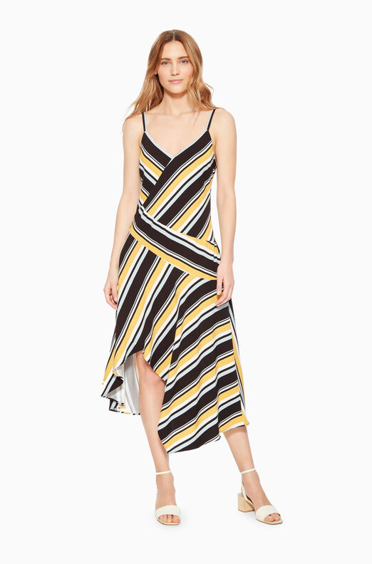 Selma Asymmetric Stripe Dress
