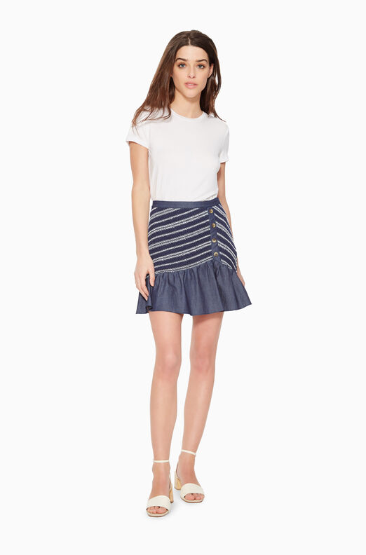 Jordon Striped Skirt