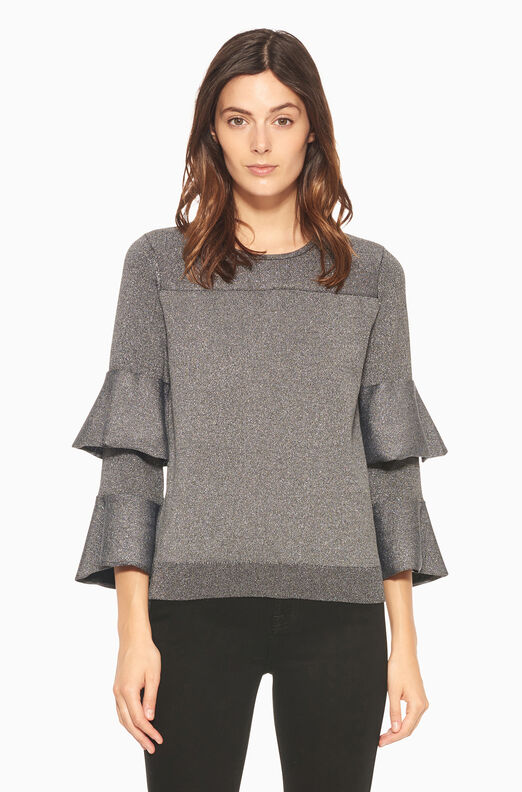 Jayla Knit Sweater - Gunmetal