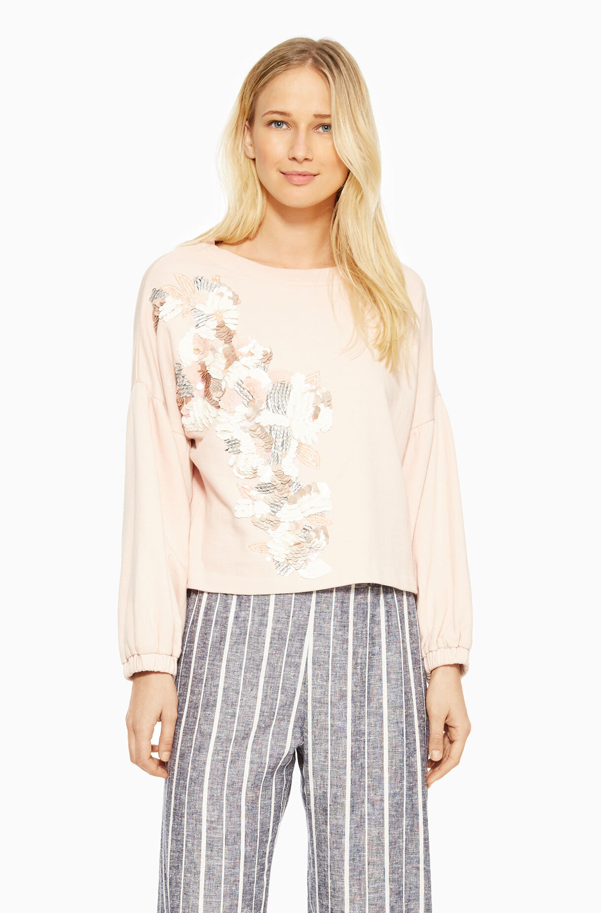 Berniece Top - Pearl Blush