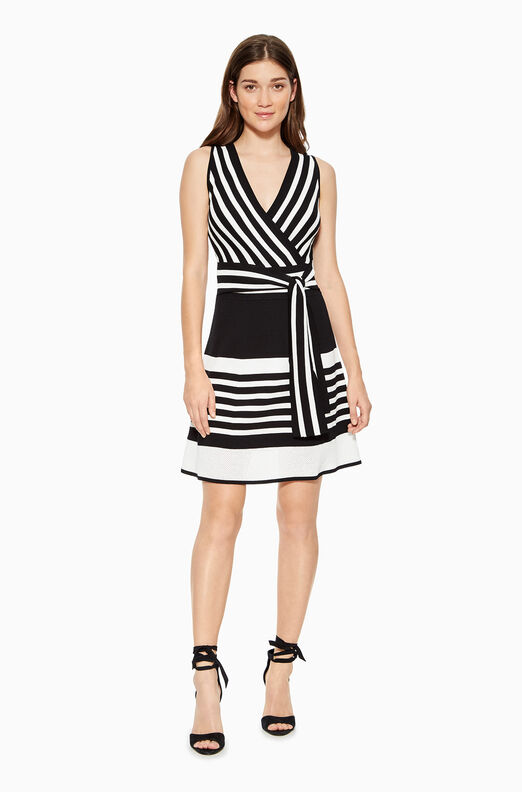 Madelina Striped Knit Dress