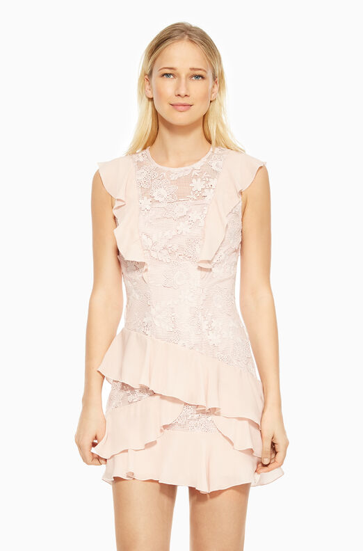 Gabriel Combo Dress - Pearl Blush