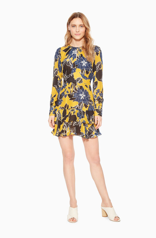 Hayley Long Sleeve Keyhole Dress