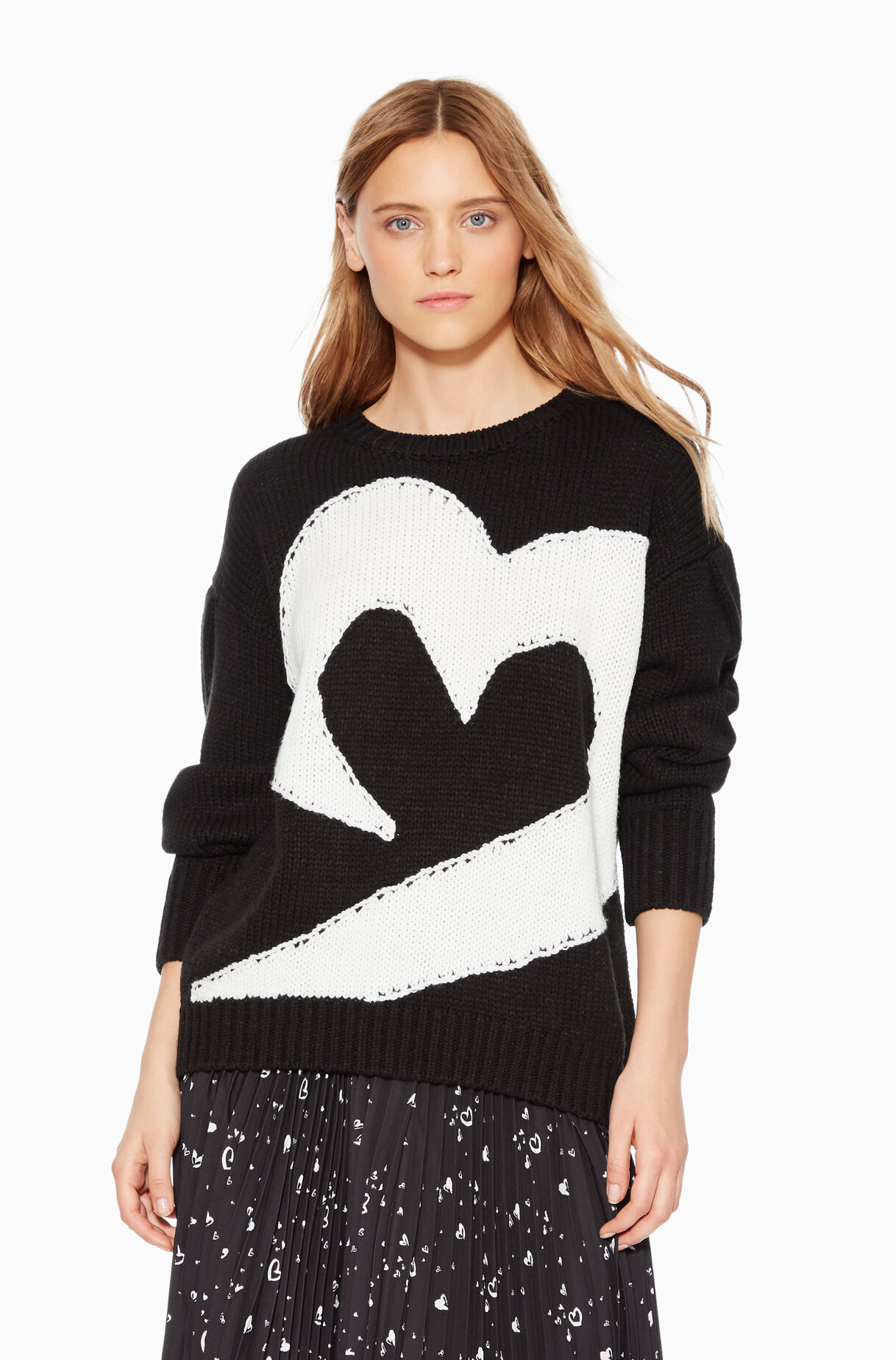 Olive Heart Sweater
