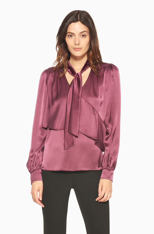 Kinsley Blouse - Mauve Wine