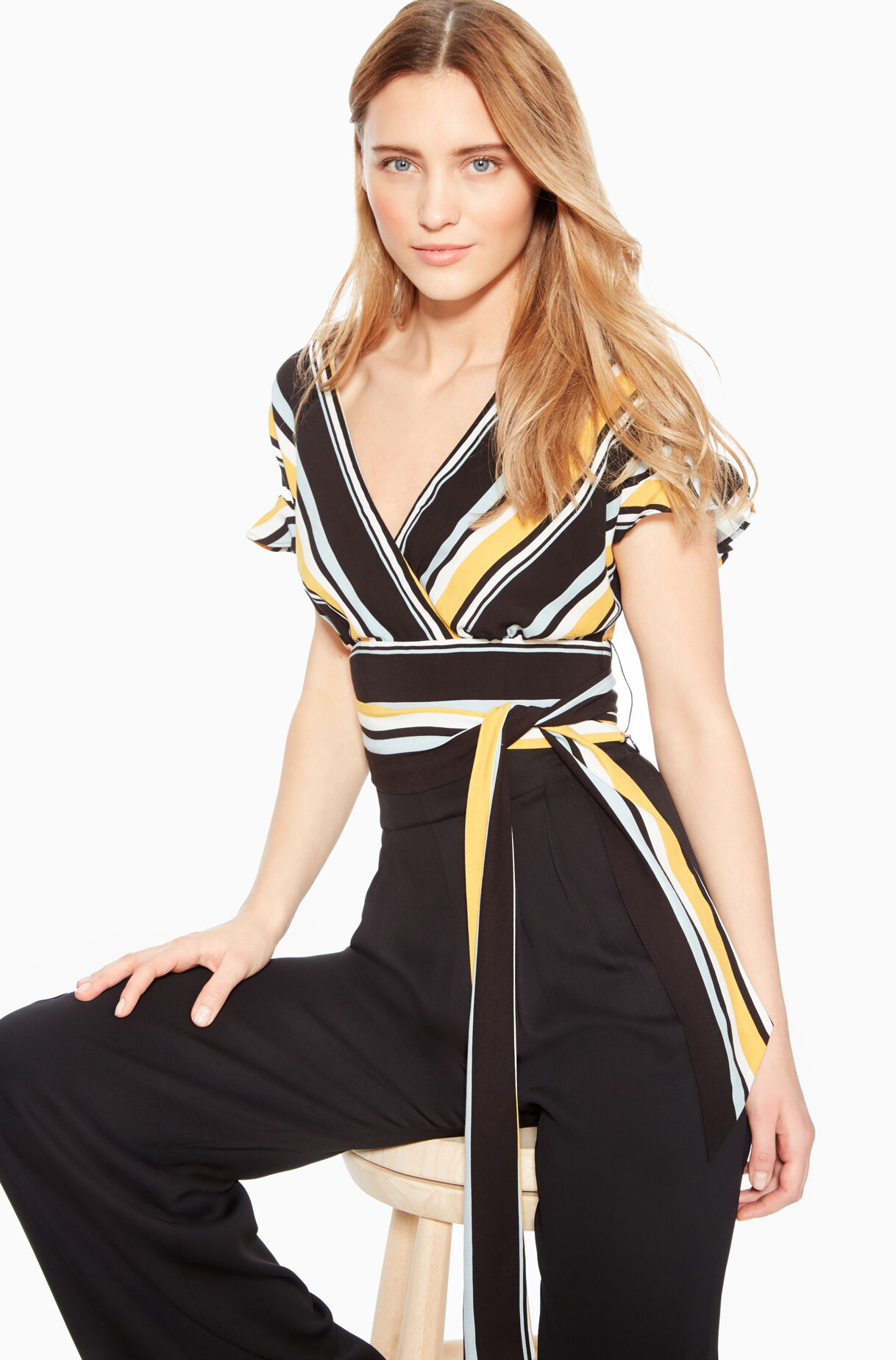 Noora Stripe Crop Top