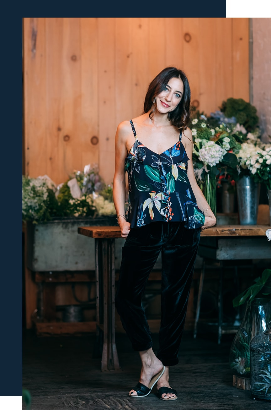 Denise floral tank and pants